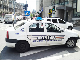 Romanian Police total disregard of driving regulations