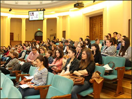 Audience at the Constantin Brancoveanu Conference organized by the Faculty of Marketing from the Bucharest University of Economic Sciences