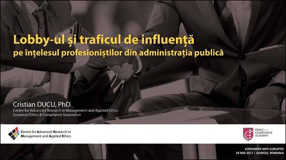 Cristian Ducu, Lobby and Influence-Peddling for Romanian Public Administration Professionals