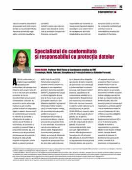 Maria Maxim, Specialistul de Conformitate și Responsabilul cu Protecția Datelor